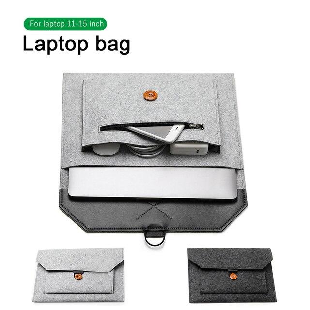 אופנה צמר הרגיש מחשב נייד שרוול תיק נייד תיק מקרה עבור Macbook רשתית 11 12 13 15 Lenovo Asus HP מחשב נייד אוניית תיק