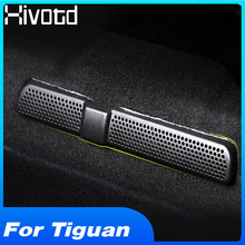 Hivotd For VW Tiguan Mk2  L 2019 Car Rear Seat Air Condition Duct Outlet Cover Under Vent Shell