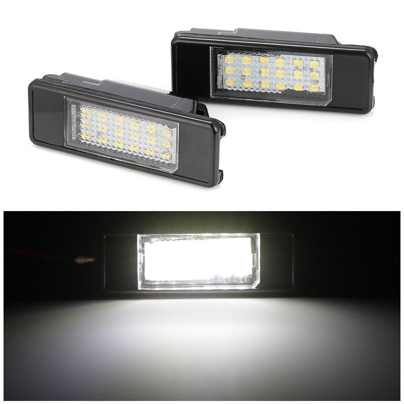2pcs Car Rear 18 LED SMD License Number Plate Light Lamp For Peugeot 106 207 307 308 406 407 508 For CITROEN C3 C4 C5 C6 C8