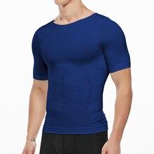 Mens Slimming Body Shaper Tummy Shapewear Male Fat Burning Vest Modeling Underwear Corset Waist Trainer Top Muscle Girdle Shirt