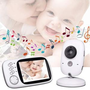 Image 2 - ベビーモニターVB603 ビデオ乳母 3.2 インチtft液晶赤外線ナイトビジョン 2 ウェイトーク 8 子守唄温度モニタラジオ乳母