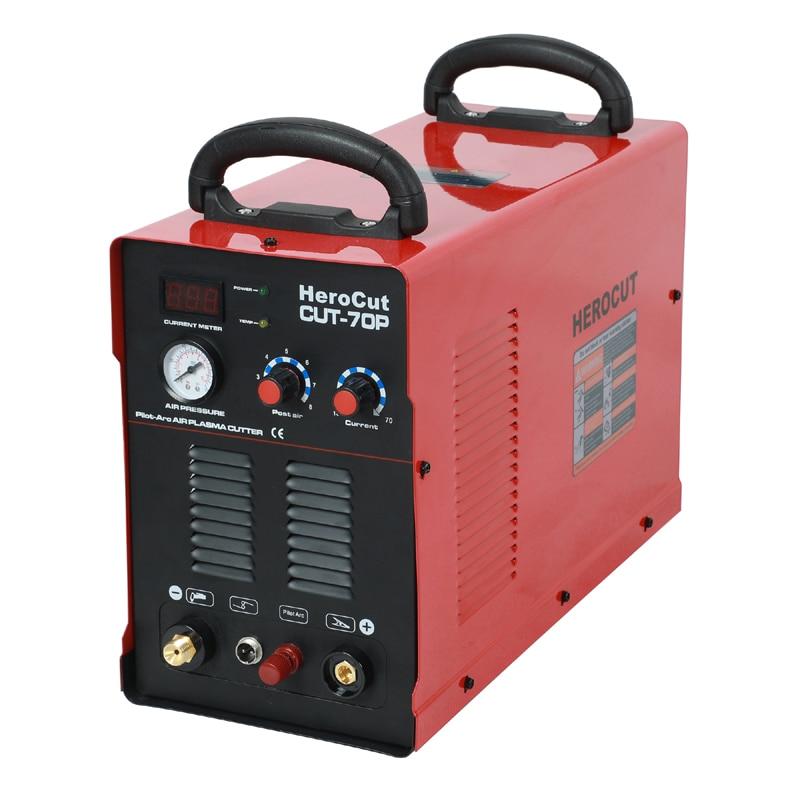 Herocut plasma Cutter IGBT 220V CUT-70P Schlag zurück Nicht-Hf pilot arc Luft Plasma schneiden maschine