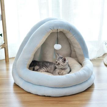 Dom dla zwierząt budy łóżko dla psów namiot dla kota ciepła poduszka kosz dla małych średnich psów antypoślizgowe dno łóżka dla psów zmywalny produkt dla zwierząt tanie i dobre opinie LAPLADOG Pranie ręczne 100 bawełna Łóżka i sofy Oddychające Stałe dog house 0 8kg