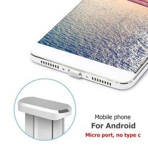 Универсальный порт зарядки Micro USB 3,5 мм разъем для наушников, металлический пылезащитный Разъем, универсальная заглушка для телефона Android, по...