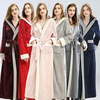 Winter Cute Warm Bathrobes Women Knee Length Bath Robe Dressing Plus Size Soft Gown Bridesmaid Robes Female christmas robe Full