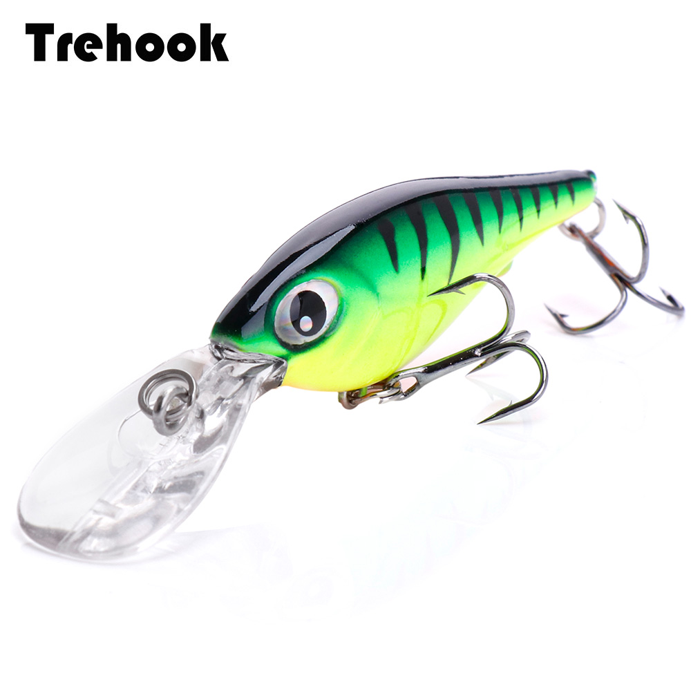 TREHOOK 5.4cm 4g Floating Wobblers Black Minnow Fishing Lure Crankbait Artificial Lures Hard Bait Fishing Products Tackle Lures