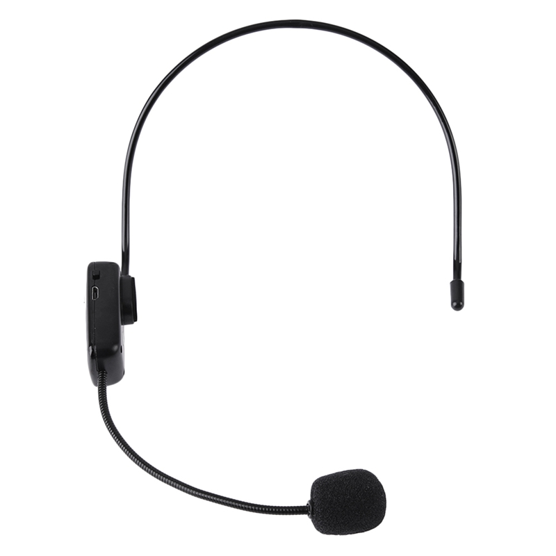 Radio FM Wireless Headset Microphone Handsfree Megaphone Mic With LCD Digital Display For Speaker Teacher