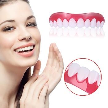 1 Pcs/Box Upper Dental Veneers Comfort Fit Flex Teeth Decoration Dentures Tooth Polyethylene Dentaduras Dentes Falsos