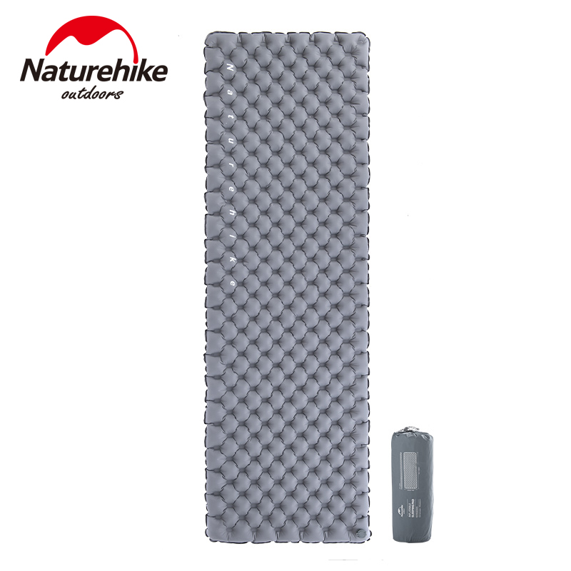 Naturehike New Upgraded Dual-valve Sleeping Pad Moistureproof Nylon Tpu Air Mattress Portable Inflatable Backpacking Camping Mat High Quality And Low Overhead