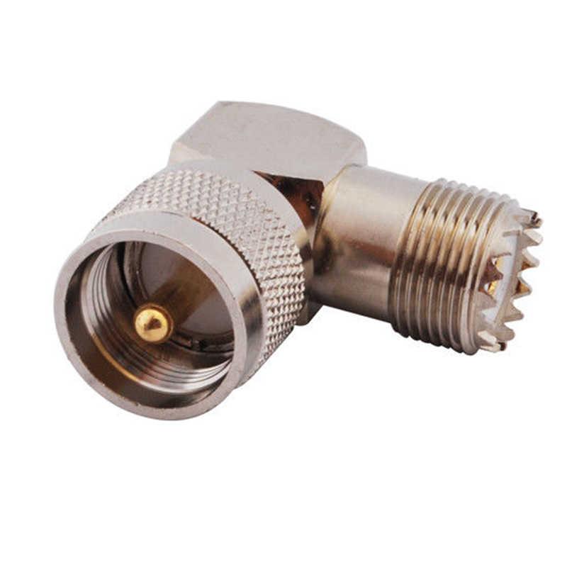 """Baru Koaksial RF Coaxial Adaptor UHF Pria PL259 untuk Perempuan So239 Sudut Kanan Konektor PL-259 Pria untuk So-239 perempuan 90 Derajat """"L"""" C"""