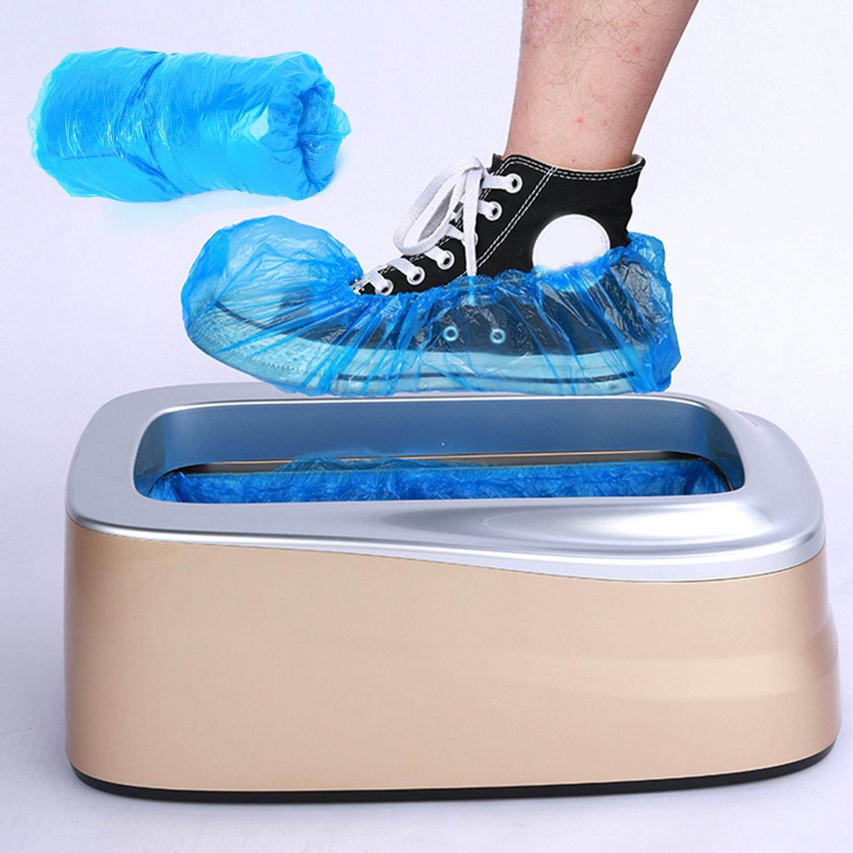 100pcs Disposable Plastic Shoe Covers Waterproof Non-Slip Foot Covers For Automatic Shoe Cover Dispenser Machine T Buckle
