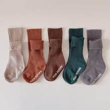 5 par/lote de bebé de algodón calcetines de Color caramelo Anti bebé niña calcetines recién nacido bebé niño calcetines para 1-6 años suave calcetines infantiles para el suelo