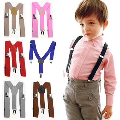 2020Top Quality Children Kids Boys Girls Y-Back Suspenders Elastic Adjustable Clips-On Braces Christmas Gifts Combinaison Enfant