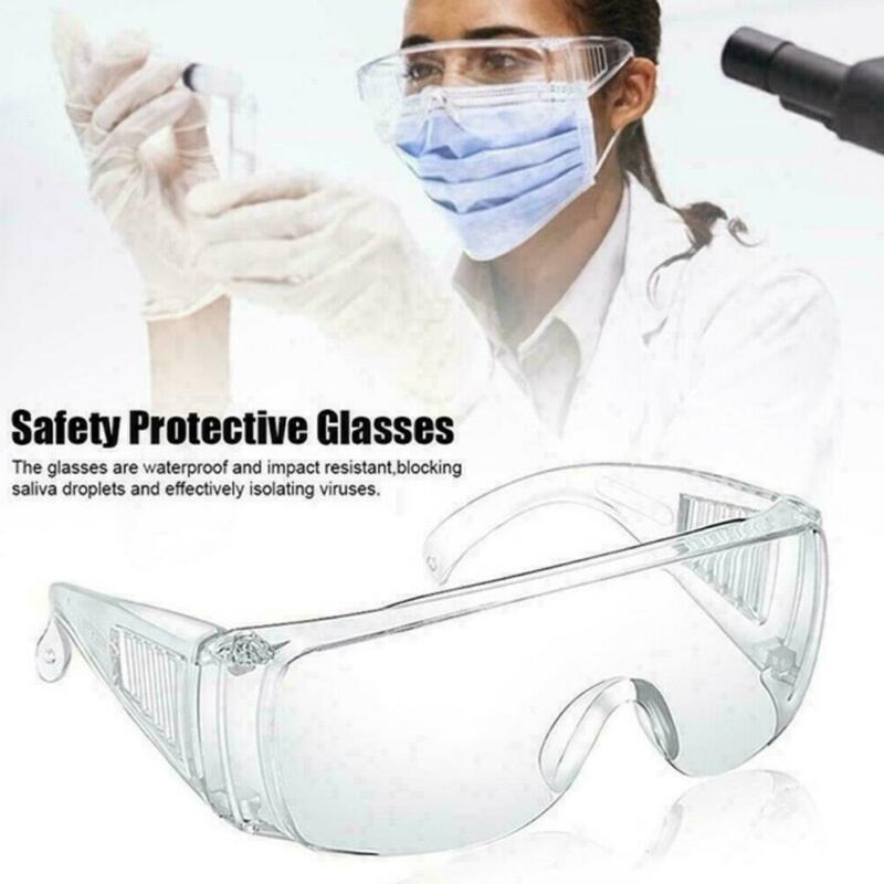 2020 HOT Safe Anti-virus Safety Goggles Glasses Eye Protection Lab Work Dust-proof Clear Lens Anti-fog Splash Eye Protection