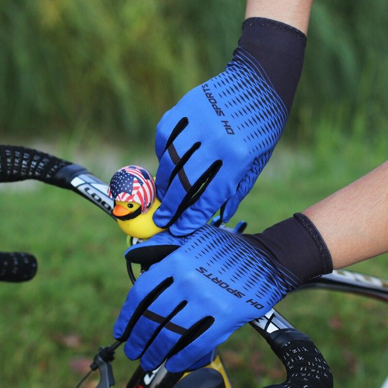 Купить с кэшбэком New Cycling Gloves Full Finger Sport Shockproof Anti Slip MTB Touch Screen Bicycle Gloves Men Women Long Finger Bike Glove