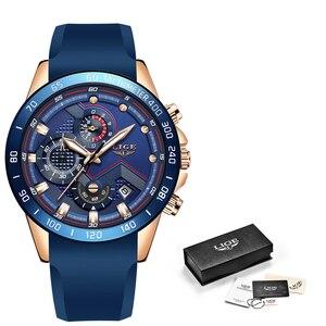 Image 5 - Relogio Masculino 2019 Neue Mode Blau Quarz Gold Uhr Herren Uhren Top marke Luxus Uhr Männlichen Sport Wasserdichte Chronograph