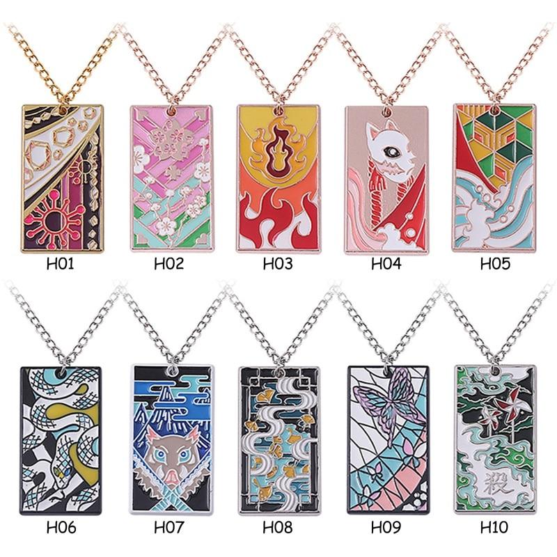 Аниме «Демон» ожерелье Slayer Kimetsu без Yaiba косплей ожерелье Мода Мультфильм цепочка колье, аксессуары, подарки
