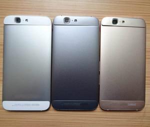 Image 2 - Für Huawei G7 Batterie Abdeckung Zurück Gehäuse Hinten Tür Fall Für Huawei Ascend G7 Batterie Abdeckung + Power Volumen Taste + Top Untere Abdeckung