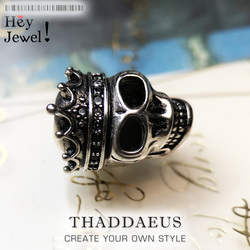 Beads Skull Queen, Silver Beads Fits Bracelet Europe Necklace Karma Charms European Jewelry Accessories For Women Men