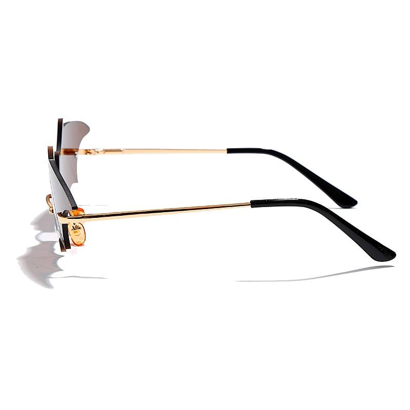 Steampunk Vintage Sunglasses Women Mirror Retro Rimless Sunglasses Men Frameless Trend Fashion Retro Small Sunglasses Eyewear