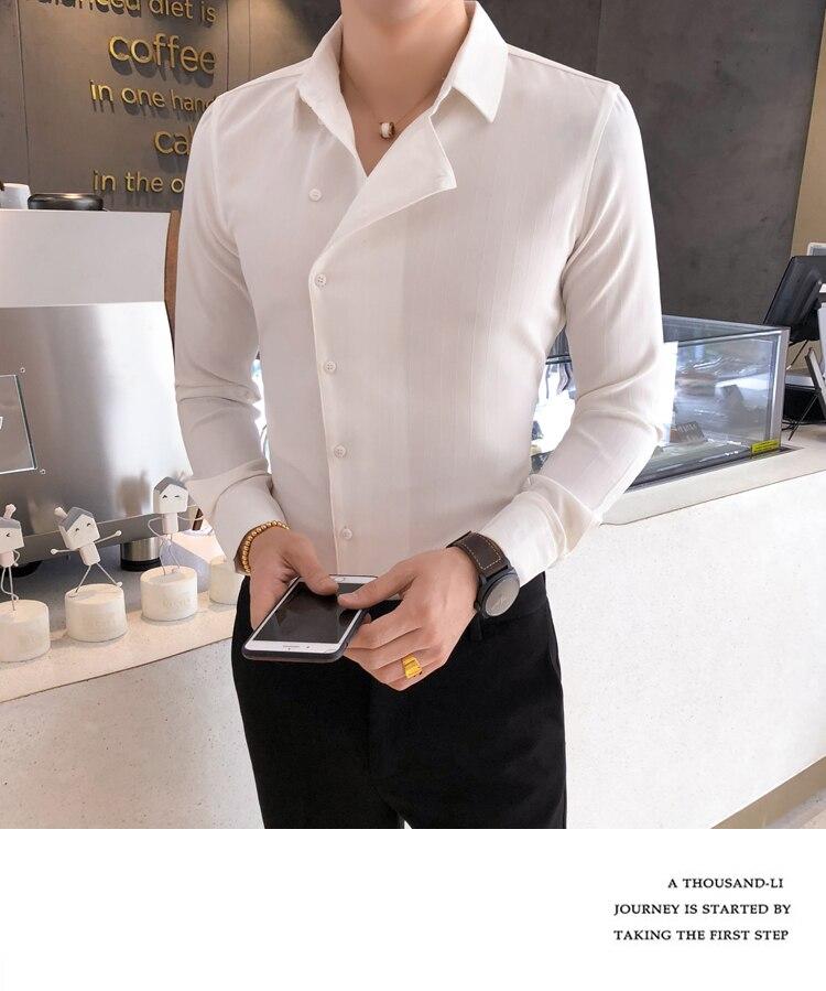 H37c93815d6f64c828d09fb3021398455p Solid Color Shirt Dress Brand New Slim Fit Men Shirt Solid Long Sleeve Shirts Men Camisa Masculina Tuxedo Clothes