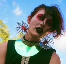 Женские Геометрические акриловые серьги подвески в виде паука