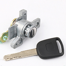 Left Ignition Lock Cylinder Auto Door Lock Cylinder For 05-08 Honda Odyssey Modification To Replace The Door Lock Core door cylinder biased lock 65 70 80 90 115mm cylinder ab key anti theft entrance brass door lock lengthened core extended keys