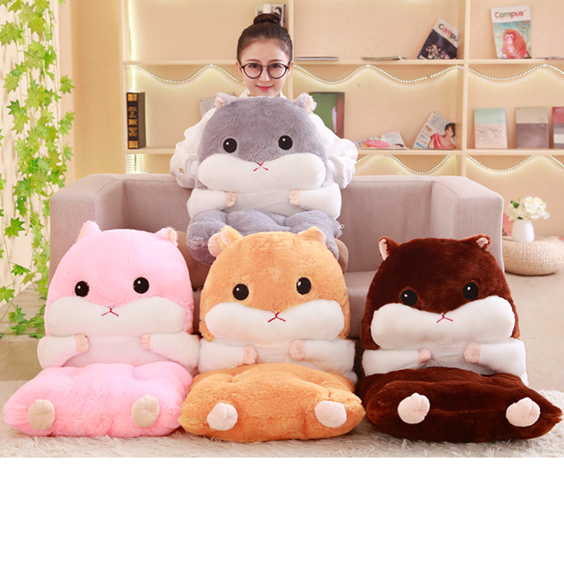 Cute Cartoon Chair Cushion For Home Decor And Office Thicken Seat Pad Sofa Home Decorative Pillow Car Seat Nap Plush Pillow