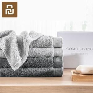 Image 4 - Toalla antibacteriana Youpin COMO LIVING de fibra negra y plateada suave y cómoda toalla absorbente y duradera de 32x76cm