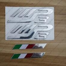 เงินอิตาลี Italia สติกเกอร์สัญลักษณ์ 3D โลโก้สติ๊กเกอร์รถจักรยานยนต์สำหรับ PIAGGIO MP3 125 300 400 500 Moto Scoote