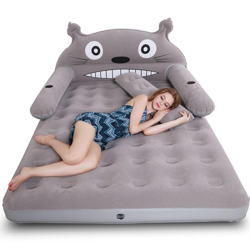 Складной надувной диван кровать для мужчин, двойная мягкая кровать для камеретты, мебель для гостиной, милый мультяшный диван для спальни