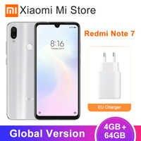 Em Estoque Global Versão Xiaomi Redmi Nota 7 4 GB 48MP 64 GB Smartphones Snapdragon 660 6.3 ''Tela Cheia + 5MP AI Câmera Dupla 4000 mAh