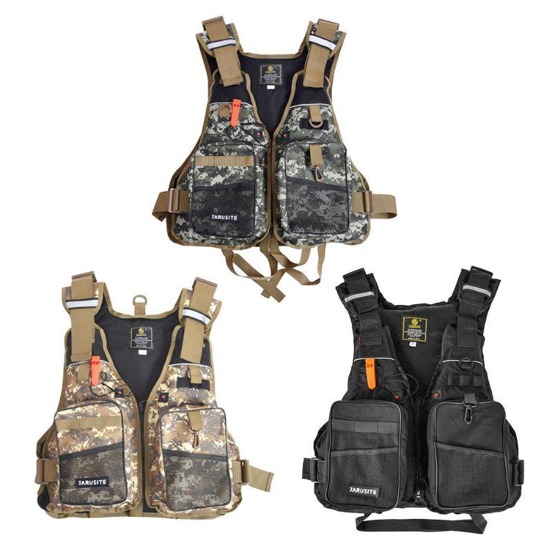 Adjustable Fly Fishing Vest Outdoor Mutil-Pocket Safety Fishing Life Jacket