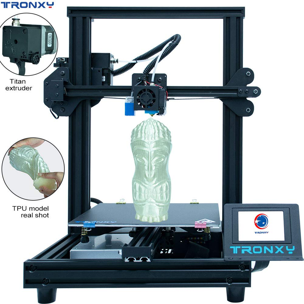 Tronxy  XY-2 Pro 3D Printer Upgraded Ultra Silent Mainboard Titan Extruder Fast Assembly Resume Printing 3D kits  impressora 3d