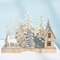 New wooden handicraft Christmas gifts decorations for home office desktop ornaments handicrafts