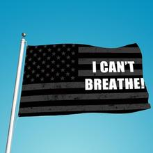 Portable USA Flag I Can'T Breathe Black Lives Matter 3' X 5' Ft Durable Banner Garlands Background Polyester Exercise Bunting недорого