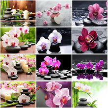 Diy 5d diamond painting full round drill bamboo flower embroidery