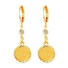 Arabo Islamico Donne Ragazze Oro colore Monete Antiche Ciondola Orecchini a pendaglio Gioielli