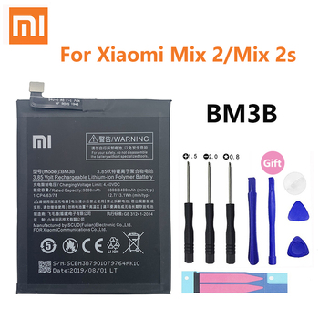 Xiao Mi 100% Original Battery BM3B For Xiaomi Mix 2 2S Mix2S 3300mAh High Capacity Rechargeable Phone Replacement Batteria Akku