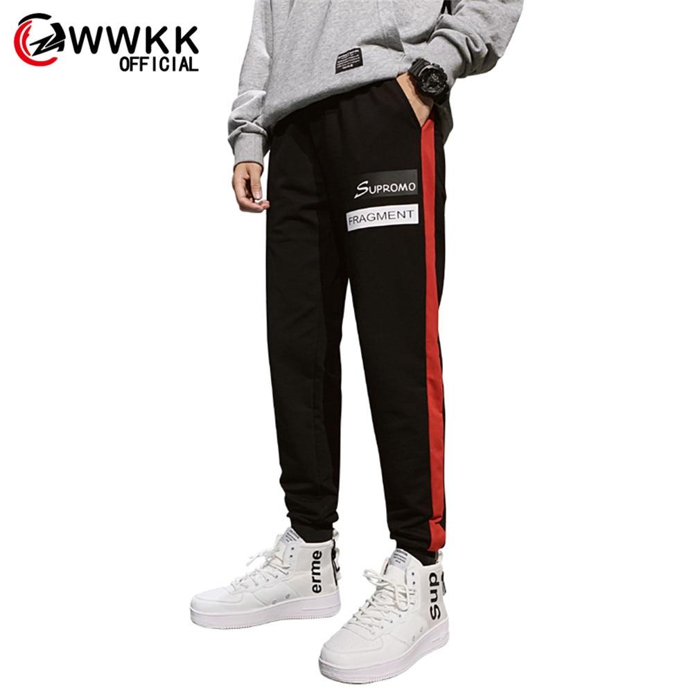 WWKK Men's Running Pant Training Pants Joggers Pant Male Trousers Sweatpants Mens Joggers Striped Pants Gyms Clothing Plus Size