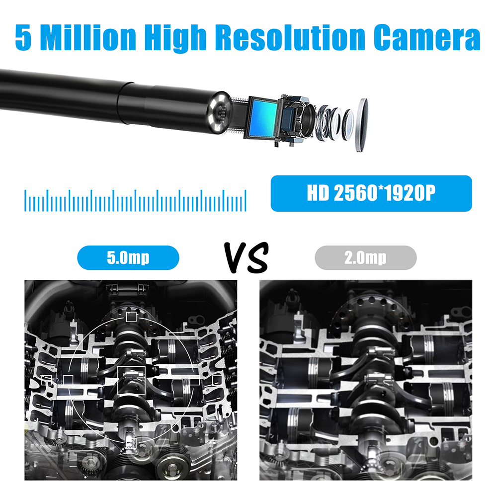 Image 5 - 5.5mm Industrial Wifi Endoscope F220 WiFi Borescope Inspection Camera Built in 6 LED IP67 Waterproof for iOS/Android SmartphonesSurveillance Cameras   -