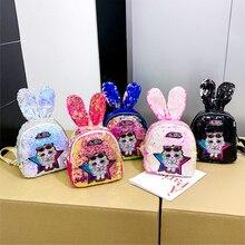 ЛОЛ Сюрприз куклы рюкзак с блестками мода милый кролик уха поп студент мультфильм школьные тенденция сумка подарки для девочек