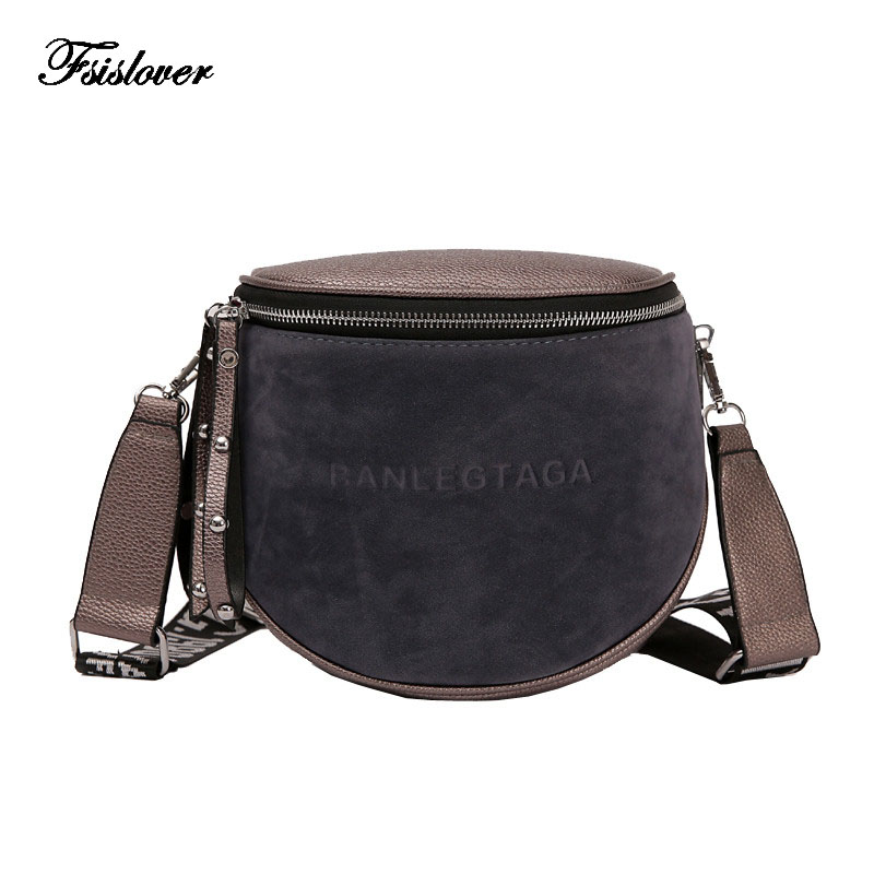 New Women Crossbody Bag Messenger Bags Pu Leather Shoulder Female Handbags Fashion Famous Brand Lady Semicircle Saddle