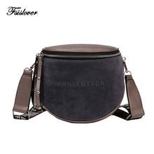 New Women Crossbody Bag Women Messenger Bags Pu Leather Shoulder Bag female Handbags Fashion Famous Brand Lady Semicircle Saddle