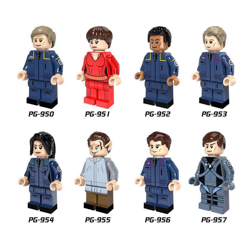 シングル販売スタートレックキャプテンメイトヘルムスマンチーフエンジニアスポックビルディングブロックレンガのおもちゃ子供のプレゼント互換 Legoed PG8054