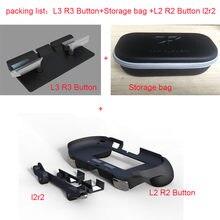 Para psv2000 psv 2000 l3 r3 aperto de mão jogo console suporte caso com l2 r2 botão gatilho para ps vita 2000 saco de armazenamento streaming