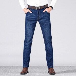 Image 4 - 2019 jesień wiosna w połowie wagi mężczyźni Casual Biker dżinsy Stretch spodnie dżinsowe solidne dopasowane jeansy rurki męskie spodnie uliczne typu Skinny