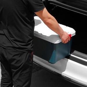 Image 3 - Универсальная задняя защитная накладка на багажник автомобиля, наклейка для Mitsubishi ASX Outlander Lancer EX Pajero Opel Mokka Volvo S60 V60 XC60