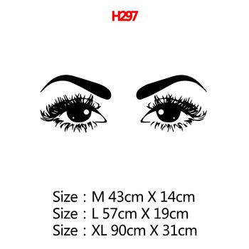 Beauty Salon Eye Lashes Live Love Wall Sticker Home Decoration Eyes Quotes Wallpaper Waterproof Wall Decoration Murals Decal 16