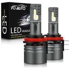 2 pçs canbus h15 lâmpadas led farol 50w 12000lm conversão da lâmpada do farol carro sem fio luzes de condução 6000k branco 12v